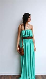 robe longue vert d39eau boheme maxi robe longue verte With robe fluide chic