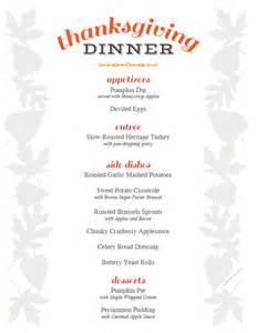thanksgiving menu printable recipe roundup free ecookbook back to roots
