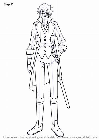 Project Draw Fushimi Saruhiko Drawing Step Anime