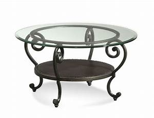 Coffee tables ideas top round glass and metal coffee for Glass top circle coffee table