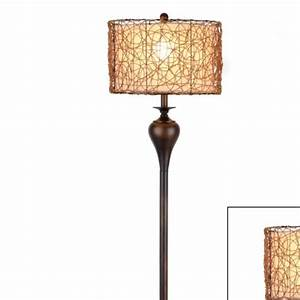 rattan shade floor lamp at kirkland39s living room With kirklands white floor lamp