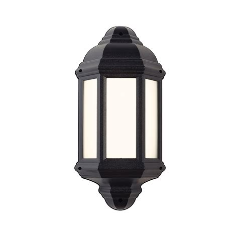 endon el 40114 enluce 1 light black lantern outdoor wall light