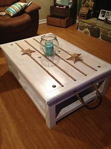 Beach theme coffee table beach theme house pinterest for Themed coffee tables
