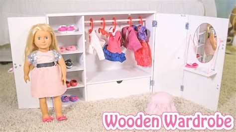 Our Generation Doll Closet by Wooden Wardrobe From Our Generation