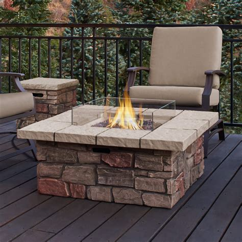 propane gas fire pit outdoor table by blue rhino top 15 types of propane patio fire pits with table buying