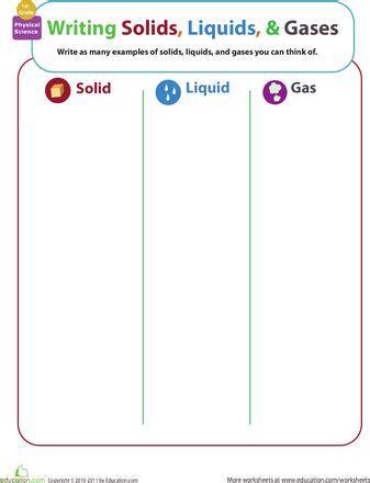 matter mixup writing solids liquids and gases 2nd