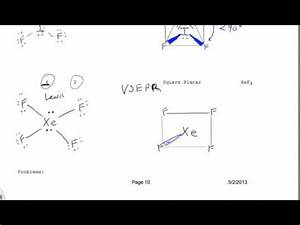 VSEPR Drawing for XeF4 Square Pyramidal - YouTube