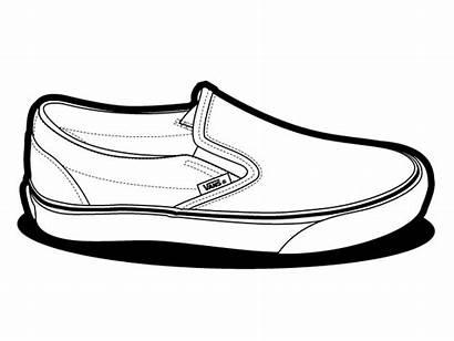 Vans Shoes Slip Vector Clipart Drawing Classic