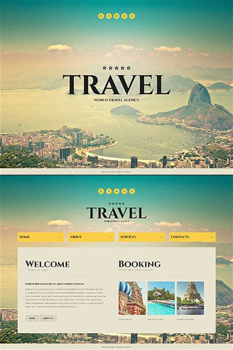 template  travel agency website template