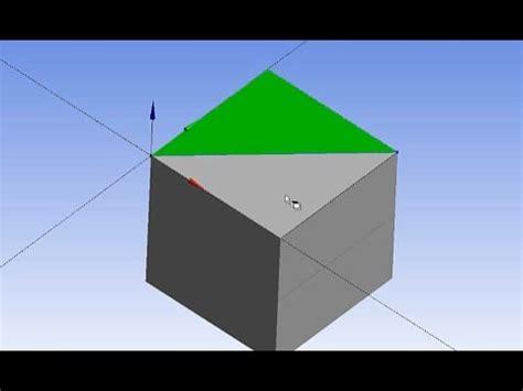 ansys desingmodeler face split basic tutorial  youtube