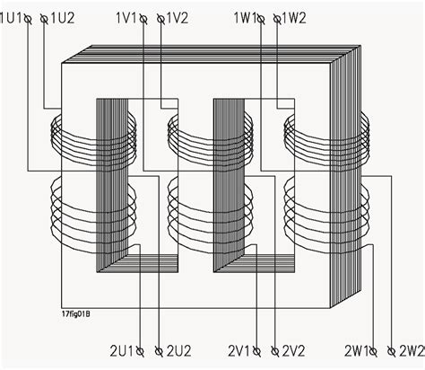 schematic diagram of a three phase transformer power transformers electrical engineering