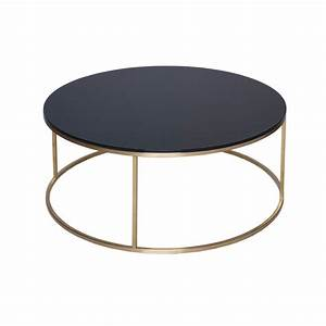 biaggio round glass coffee table with gold open base With round glass coffee table with gold base