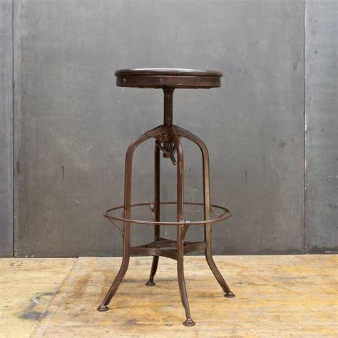 vintage toledo industrial factory workshop or bar stool adjustable for sale at 1stdibs