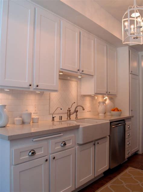 White Galley Kitchen  Transitional  Kitchen  Turquoise La