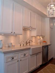White Galley Kitchen - Transitional - kitchen - Turquoise LA