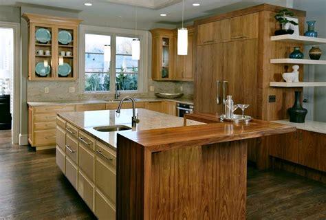 kitchen blocks island kitchen pastore waterfall wood countertops and butcher block tables