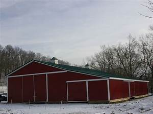 big red barn slabaugh barns With big pole barn