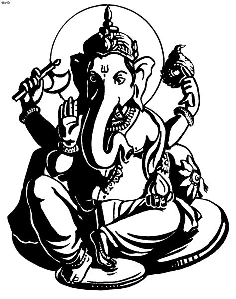 Ganesh tattoo600 x 804 96 3Kb Ganesha Black And White Tattoo