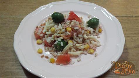 come cucinare riso farro e orzo insalata di riso farro e orzo ricette d oro