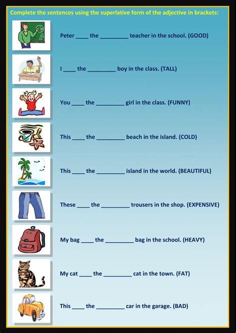 superlatives interactive worksheet