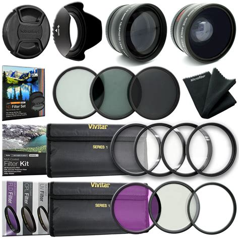 Kenko High Quality Cpl Filter 55mm 52mm wide angle lens up uv cpl fld filter kit