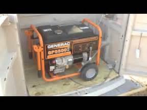 outdoor enclosure for portable generator gp5500