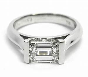 181 horizontal emerald cut bar set ring my style With emerald cut diamond wedding ring sets