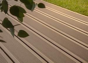 Lame De Terrasse Composite : lame de terrasse en bois composite teinte brun colorado ~ Melissatoandfro.com Idées de Décoration