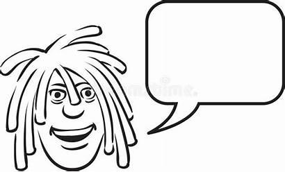 Bubble Drawing Dreadlocks Speech Face Whiteboard Coloring