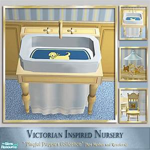 Cashcraft39s playful puppies nursery baby bath tub for Sims freeplay baby bathroom