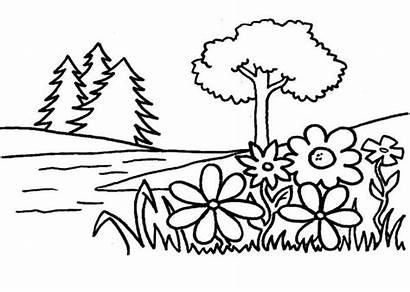 Coloring Eden Garden Pages Flower Tree Flowers