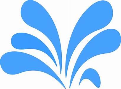 Splash Water Clipart Graphic Fountain Pixabay Vector
