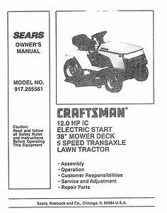 Craftsman Lawn Mower 917 255561 User Guide