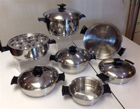 rena ware  piece cookware set  ply   stainless steel   usa waterless cookware