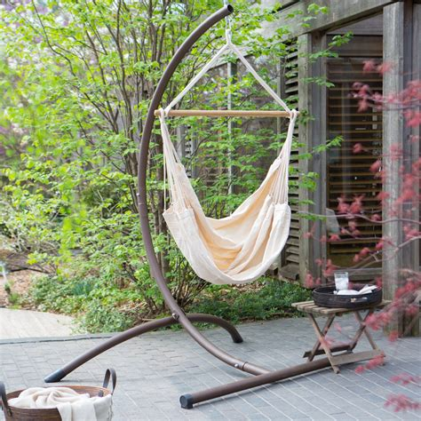 Hammock Chair With Stand by Cotton Solid Colors Hammock Chair With Steel
