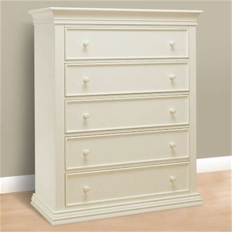 verona 5 drawer dresser french white 2710 fw by sorelle