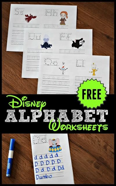 free disney alphabet worksheets 123 homeschool 4 me 646   free printable disnely alphabet worksheets preschool kindergarten first grade