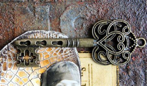 rust brass added collage key