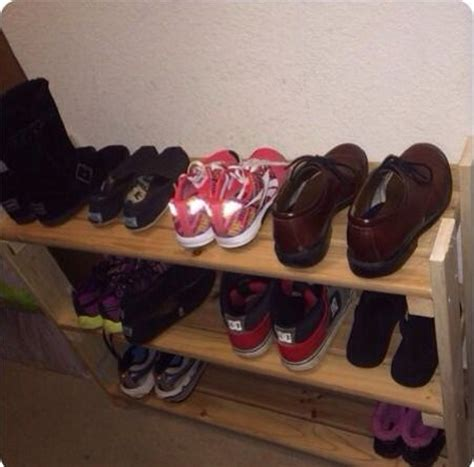diy shoe rack   shoe collection neat  tidy home  gardening ideas home