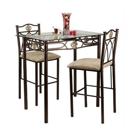 small kitchen table  chairs counter height bistro set pub dining room  ebay