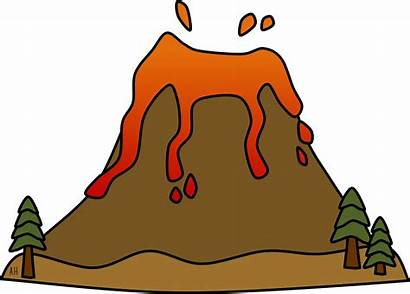 Clipart Island Volcanic Volcano Transparent Mountain Animation