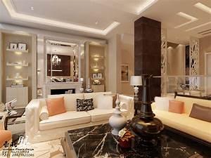 Living room wall shelves interior design ideas