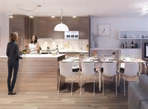 island kitchen tables integrated dining table with kitchen island for modern apartment by bosaspace kitchen ideas