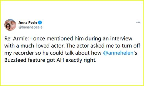Writer Anna Peele's Tweet About Armie Hammer Is Getting ...