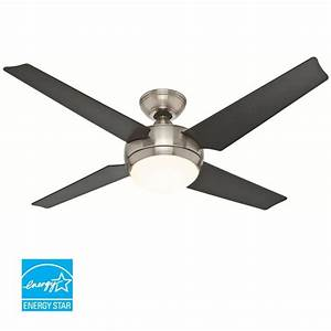Hunter brushed nickel quot energy star rated indoor