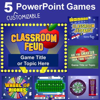 powerpoint game show powerpoint pack 5 customizable tv show templates tpt