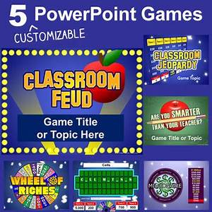 powerpoint games pack 5 customizable tv game show With tv game show powerpoint templates