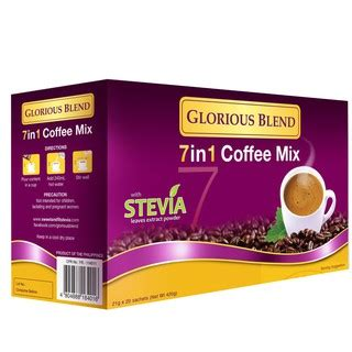 Coffee's naturally acidic properties are what give your brew that distinctly tart, bright, and sour taste. Glorious Blend 7 in 1 Coffee Mix with Stevia extract power ...