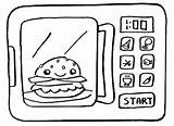 Microwave Coloring Sheets Template sketch template