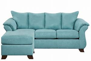 Taffy microfiber sofa with floating ottoman at gardner white for Couch und sofa fürth